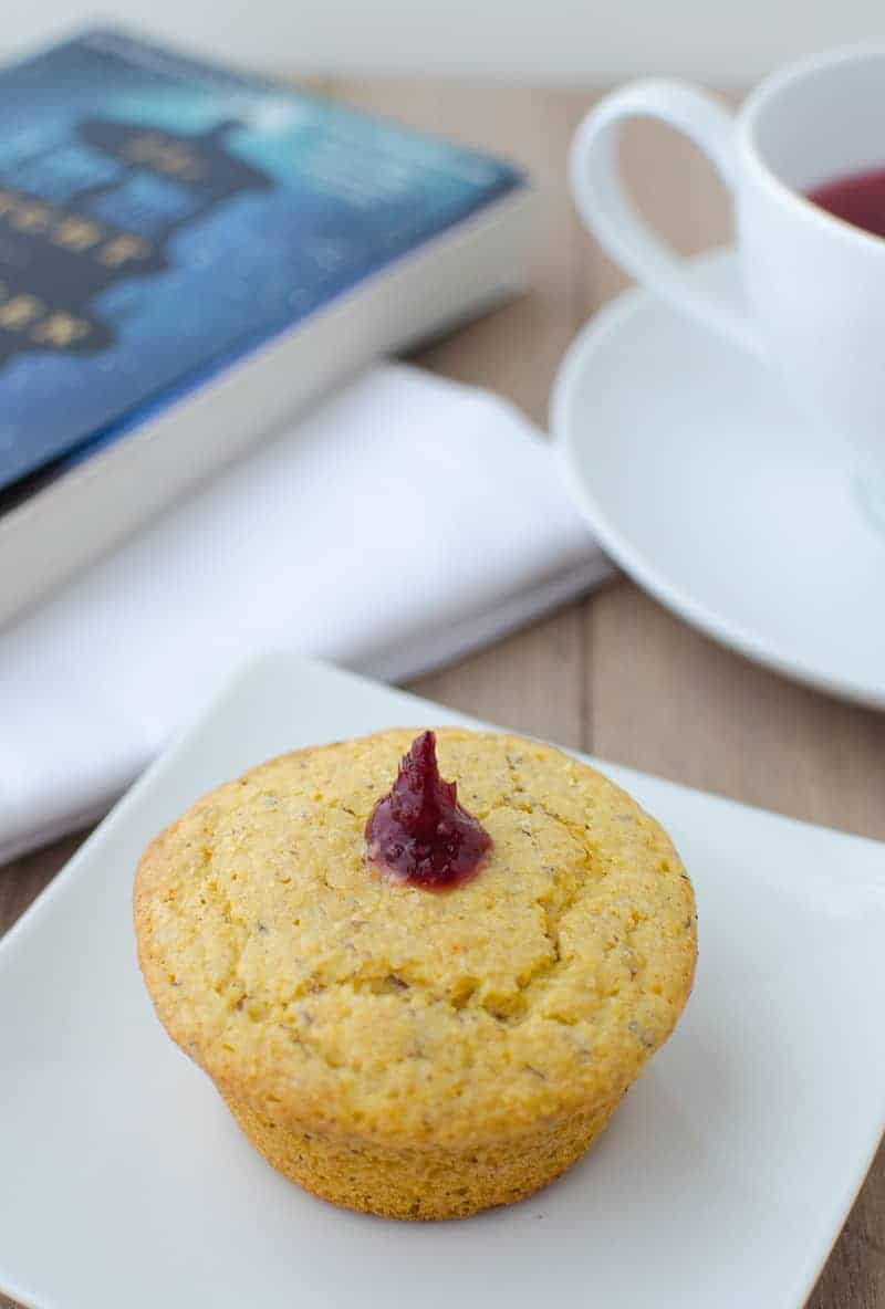 Get your bread baskets ready! These jam filled corn muffins are the perfect sweet & savory side to enjoy on it's own or with a full plate of Thanksgiving favorites. | www.delishknowledge.com