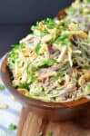 30 minute meal! Rainbow Soba Noodles with Creamy Peanut Sauce! This healthy recipe is soooo good! #vegan   www.delishknowledge.com