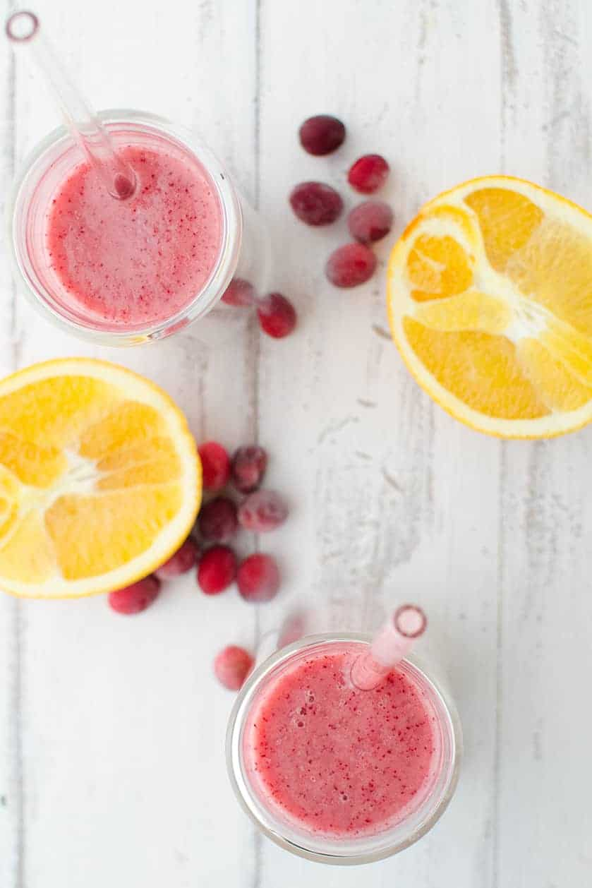 Healing Cranberry Smoothie! The perfect breakfast or snack after all the holiday sweets! Packed with nutrition! | www.delishknowledge.com