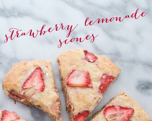 Strawberry Lemonade Scones recipe (vegan)